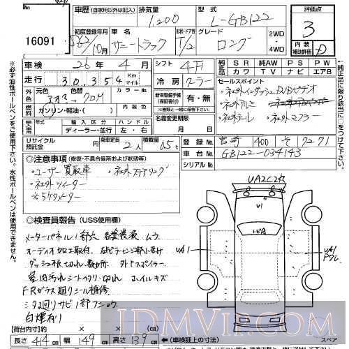 1987 NISSAN SUNNY TRUCK  GB122 - 16091 - USS Kyushu