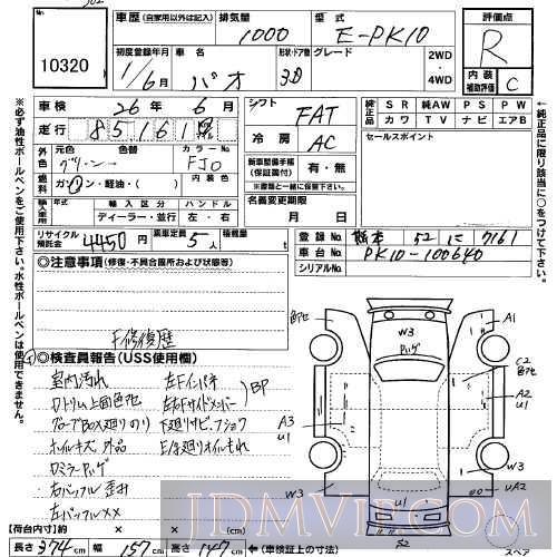 1989 NISSAN PAO  PK10 - 10320 - USS Kyushu
