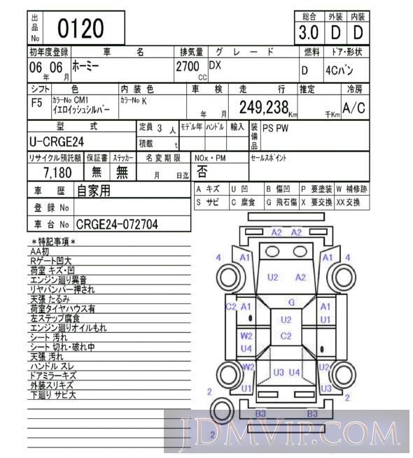 1994 NISSAN HOMY VAN DX CRGE24 - 120 - NAA Fukuoka