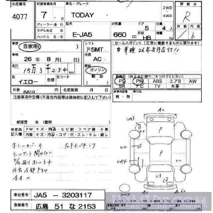 1995 HONDA TODAY  JA5 - 4077 - JU Hiroshima