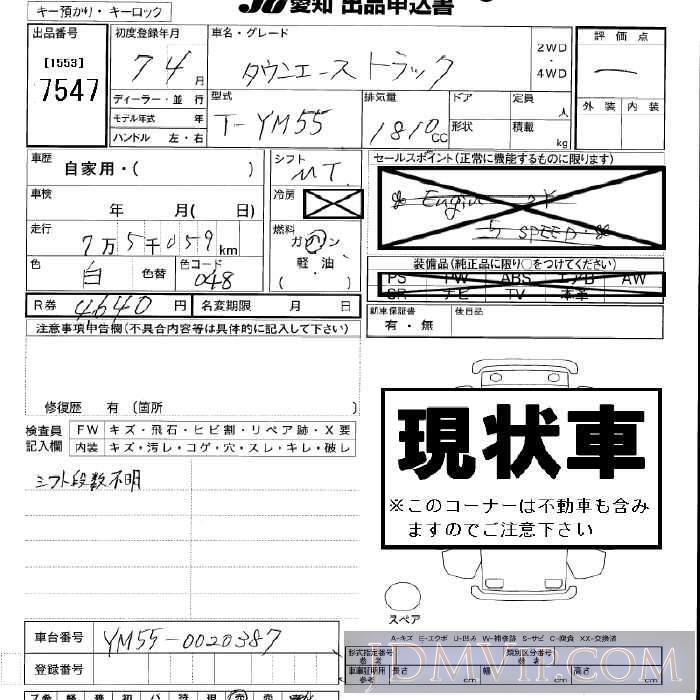 2003 HONDA ELEMENT 4WD YH2 - 7547 - JU Aichi