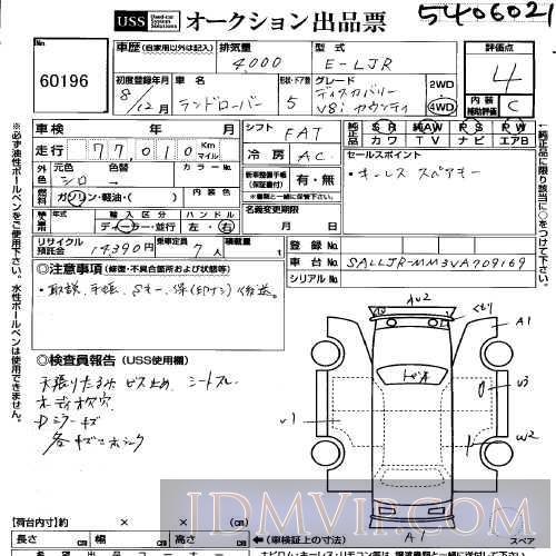 1996 OTHERS LANDROVER V8I_ LJR - 60196 - USS Yokohama