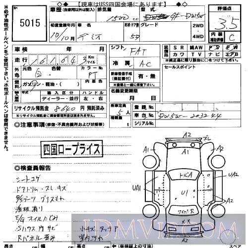 1998 MAZDA DEMIO  DW5W - 5015 - USS Okayama