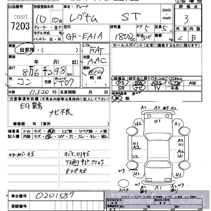 1998 MITSUBISHI LEGNUM ST EA1A - 7203 - JU Saitama