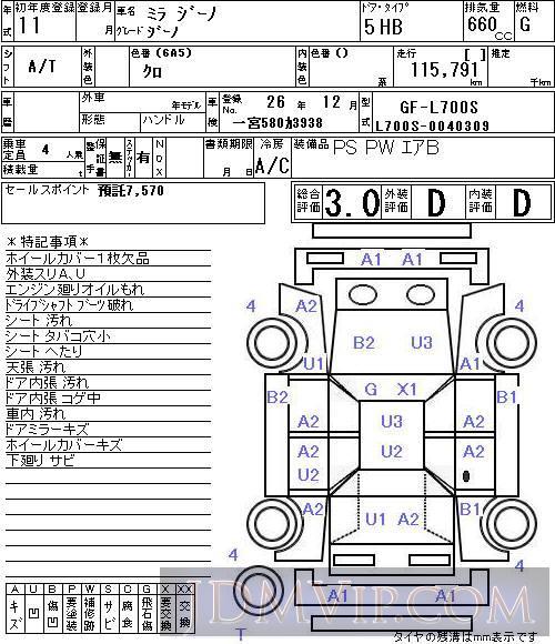1999 daihatsu mira  uff7c uff9e uff70 uff89 l700s - 4514 - naa nagoya - 27825