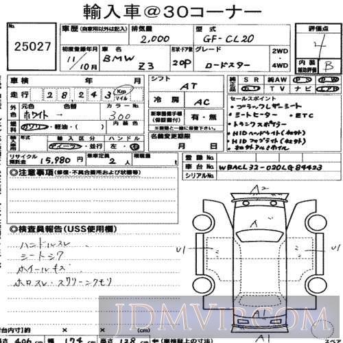 1999 OTHERS BMW  CL20 - 25027 - USS Nagoya