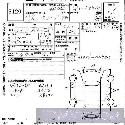 2000 NISSAN CUBE  ANZ10 - 8120 - USS Okayama