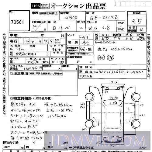 2000 OTHERS BMW 2.8 CH28 - 70561 - USS Yokohama