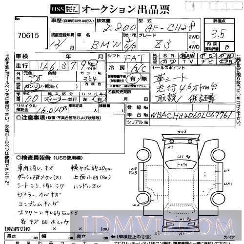 2000 OTHERS BMW  CH28 - 70615 - USS Yokohama
