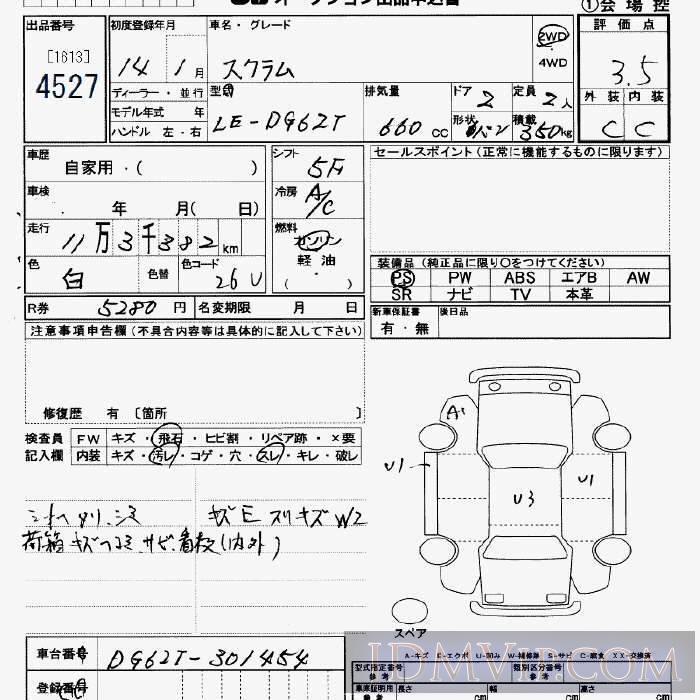 2002 MAZDA SCRUM TRUCK  DG62T - 4527 - JU Saitama