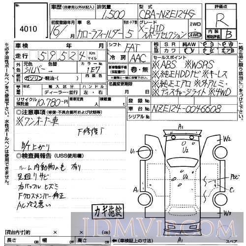 2005 SUZUKI SWIFT 1.5XS ZD21S - 4010 - USS Sapporo