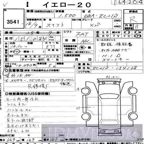 2006 SUZUKI SWIFT 1.5XS ZC21S - 3541 - USS R-Nagoya