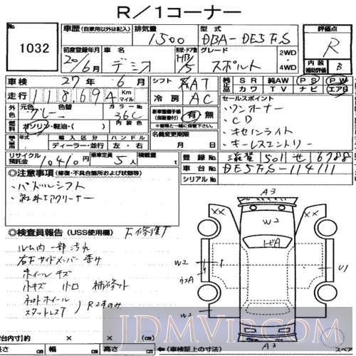 2008 MAZDA DEMIO  DE5FS - 1032 - USS Nagoya